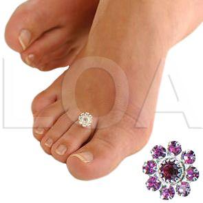 Anelli Piede Toe Ring StarGazer a partire da € 3.90 Scegli il tuo colore: turchese, rosa, blu/black, crystal.