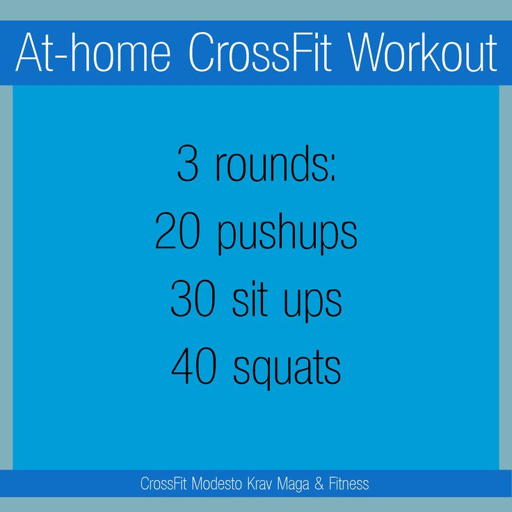 At-home full body CrossFit workout, zero equipment required.