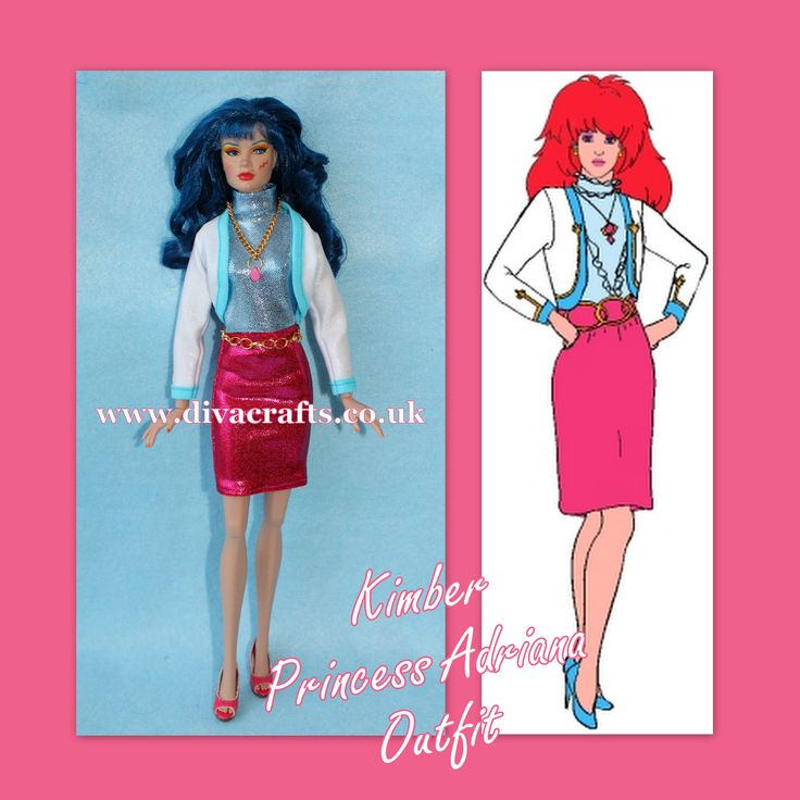 handmade jem doll clothes fashions by cazjar illustration by pranceatron
