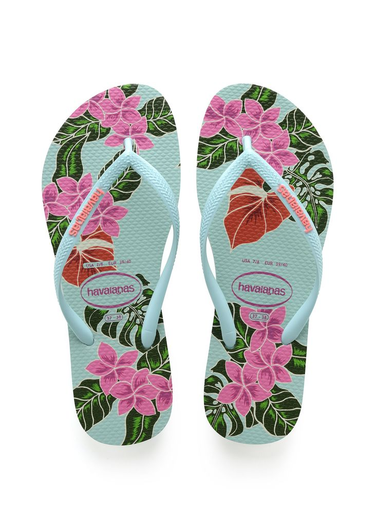Havaianas Slim Floral Sandal Green/Pink  Price From: 35,38$CA  https://flopstore.ca/ca_french/new-arrivals/havaianas-slim-floral-sandal-green-pink.html