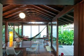 Casa nº 7, Praia de Itamambuca, Ubatuba. Arquiteto Eduardo Martins de Mello, 2008<br />Foto Antonio Saggese