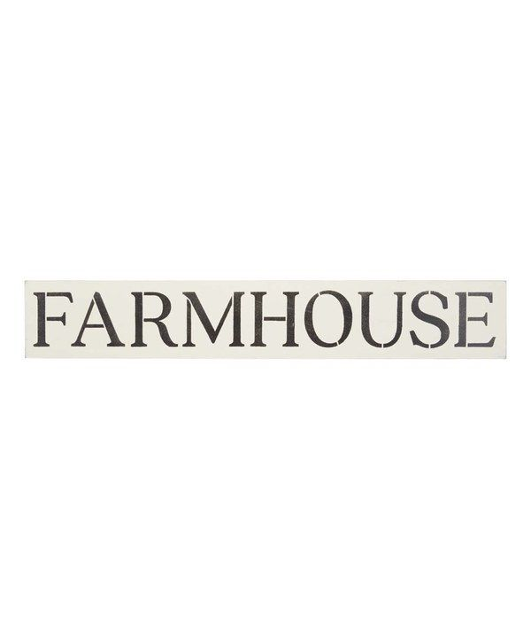 Look at this 'Farmhouse' Indoor/Outdoor Wall Sign on #zulily today!