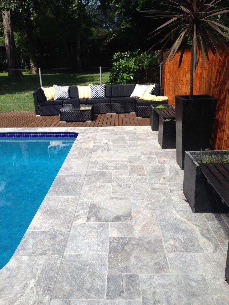 Amber Tiles Kellyville: Platinum Travertine pool coping #travertine #naturalstone #poolsurround #poolinspiration #ambertiles #ambertileskellyville  Photo Cred: Amber Tiles Mona Vale