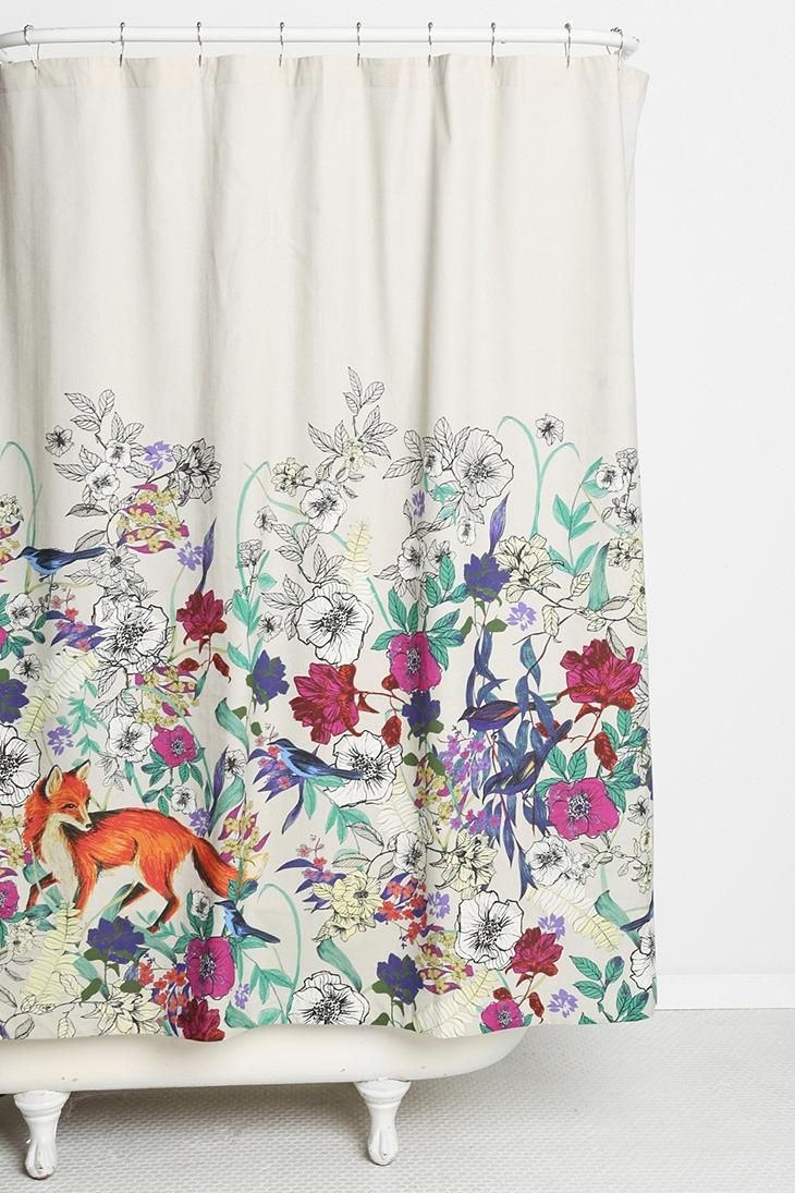 Cool shower curtains for kids - Plum Bow Forest Critters Shower Curtain