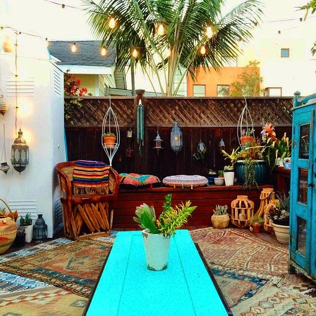 Boho patio inspiration all decor styles themes for Outdoor patio inspiration