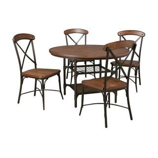 Shop for Signature Design by Ashley Rolena Brown Table and Four Chairs Set. Get free delivery at Overstock.com - Your Online Furniture Shop! Get 5% in rewards with Club O! - 18075201