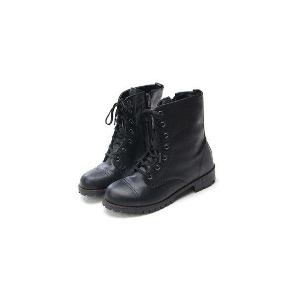 Womens Black Brown High Top Zip Military Look Boots Ladies Fashion... ❤ liked on Polyvore featuring shoes, boots, ankle booties, botas, sapatos, combat boots, black combat boots, black zipper booties, black ankle booties and military boots