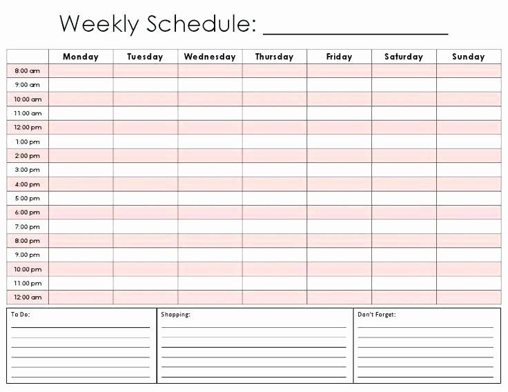 Free Appointment Schedule Template Luxury Printable Weekly Appointment Calendar Print Schedule Template Weekly Schedule Template Weekly Schedule Template Excel