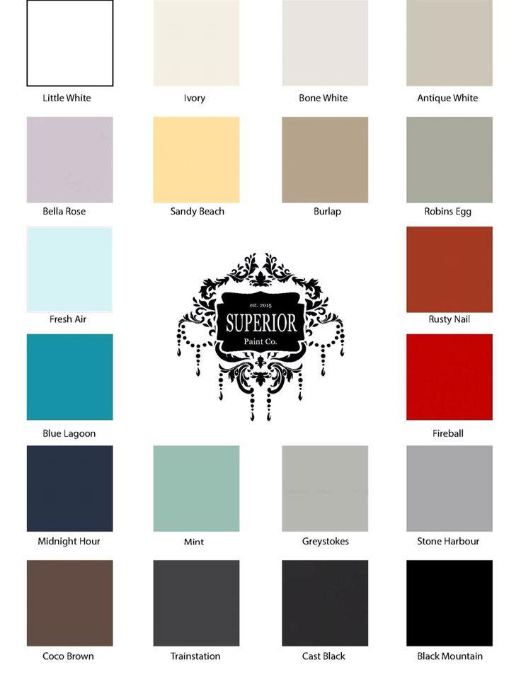 Superior Paint Co. 2016 Colour Chart