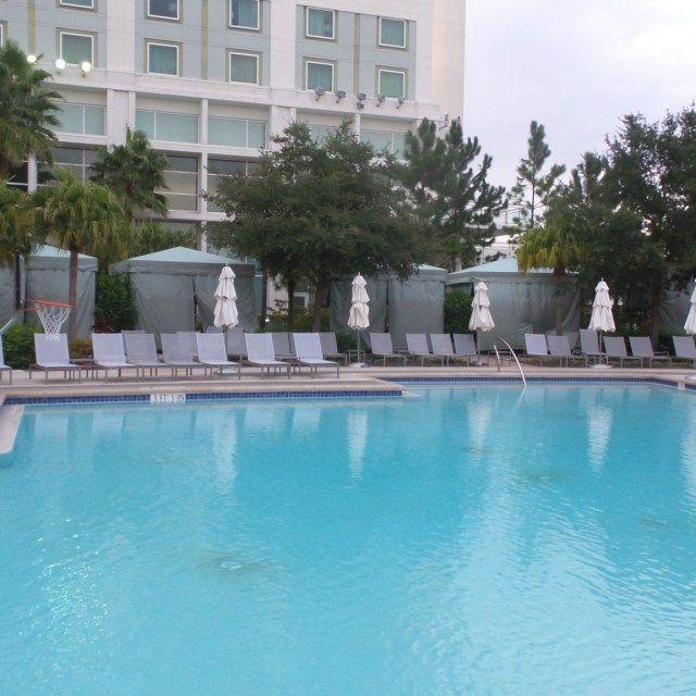 Pool Basketball at the Hilton Orlando Hotel, Florida, USA