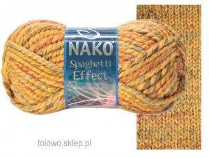 włóczka Nako Spaghetti Effect-  na bardzo ciepłe czapki i szaliki