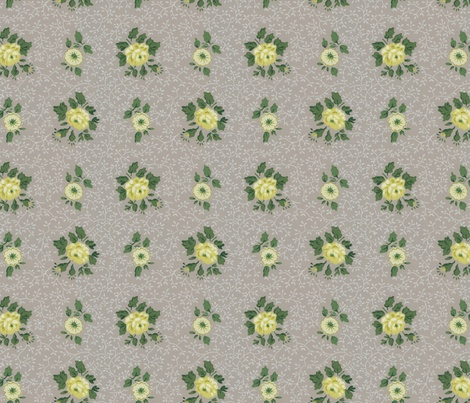 Vintage Floral Wallpaper fabric by jodielee on Spoonflower - custom fabric