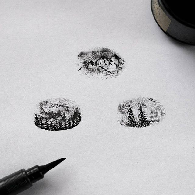 best 25 fingerprint tattoos ideas on pinterest thumbprint tattoo married couple tattoos and. Black Bedroom Furniture Sets. Home Design Ideas