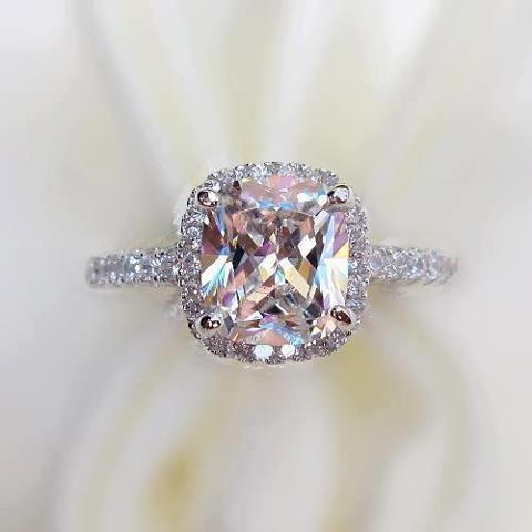 pink diamond with halo of diamonds @lylehusardesigns | Brookfield WI #lylehusardesigns                                                                                                                                                     More