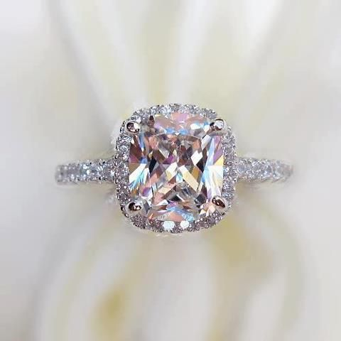 pink diamond with halo of diamonds @lylehusardesigns | Brookfield WI #lylehusardesigns                                                                                                                                                     More