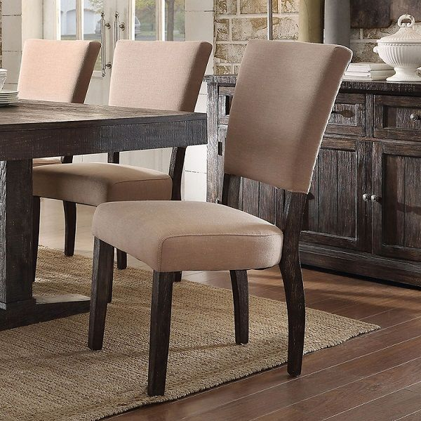 Excellent Eliana By Acme 71712 Dining Side Chair Set Of 2 Free Bralicious Painted Fabric Chair Ideas Braliciousco