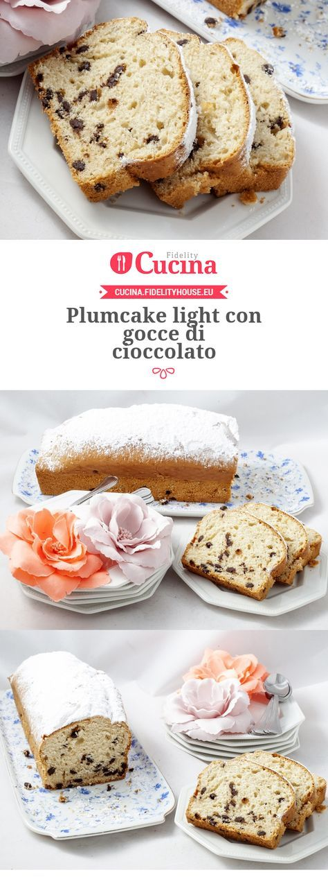 Plumcake light con gocce di cioccolato