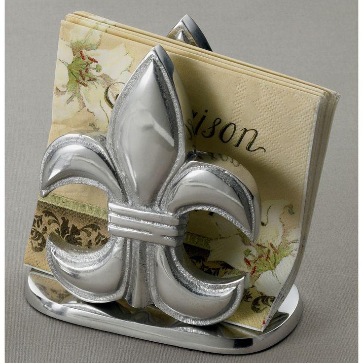 Elegant Fleur-de-lis Napkin Holder - Overstock™ Shopping - Big Discounts on KINDWER Counter Accessories