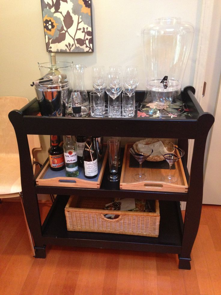 Kitchen Cart Table Natural Maple Cabinets Turning Baby Changing Tables Into Bars | ...