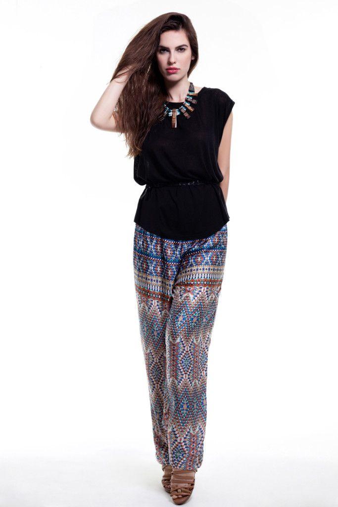 SARTORIAL | Chryssomally || Art & Fashion Designer - Ethnic geometric pants and loose top