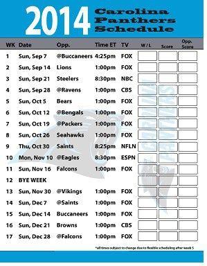 CAROLINA PANTHERS 2014-15 TEAM SCHEDULE FRIDGE MAGNET NFL REFRIGERATOR FOOTBALL