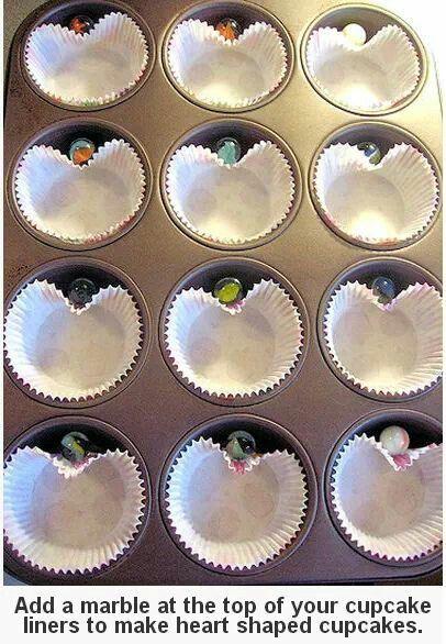 pour faire des cupcakes en forme de coeur