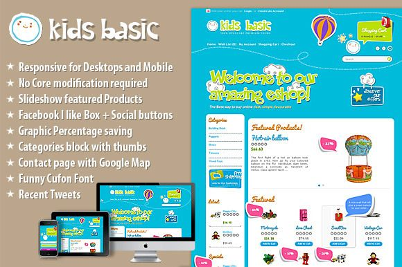 Check out KidsBasic OpenCart Responsive Theme by ThemeBooster.com on Creative Market