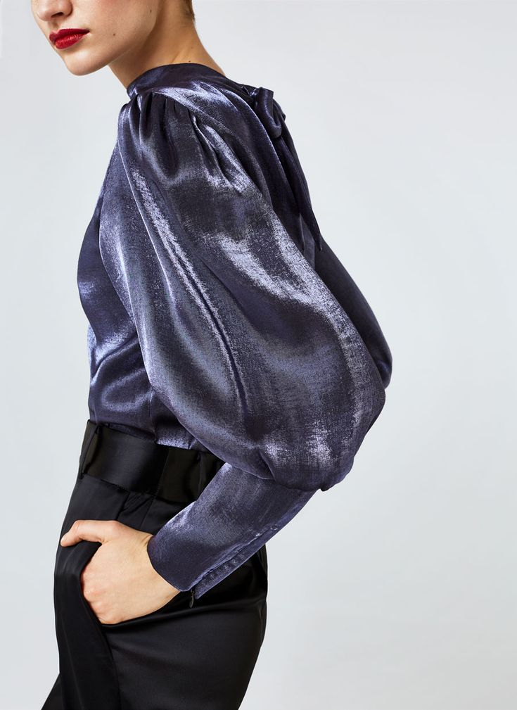 Uterqüe United Kingdom Product Page - New in - View all - Shiny blouse - 85