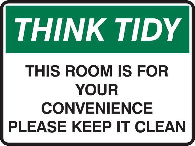 Printable Keep Breakroom Clean Signs Tidy Signs