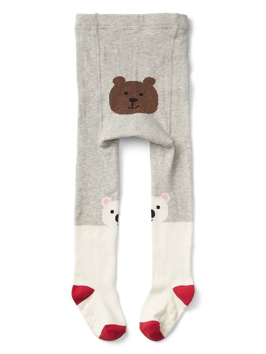 Gap Baby Polar Bear Sweater Tights Ivory Frost | Sweater tights ...