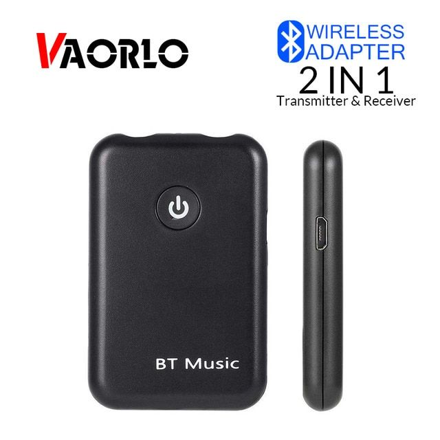 2in1 Wireless Bluetooth 4.1 FM Transmitter 3.5mm Car AUX Audio Receiver Adapter