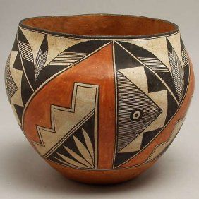 18: VINTAGE ACOMA PUEBLO INDIAN POTTERY BOWL : Lot 18