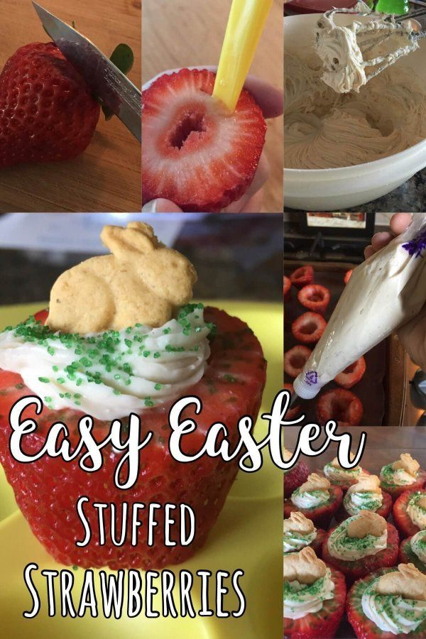 103 best easter gift ideas crafts etc images on pinterest easy easter treats cheesecake stuffed strawberries negle Choice Image