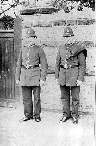 Two police constables at Edward Road Balsall Heath Birmingham UK  c1900