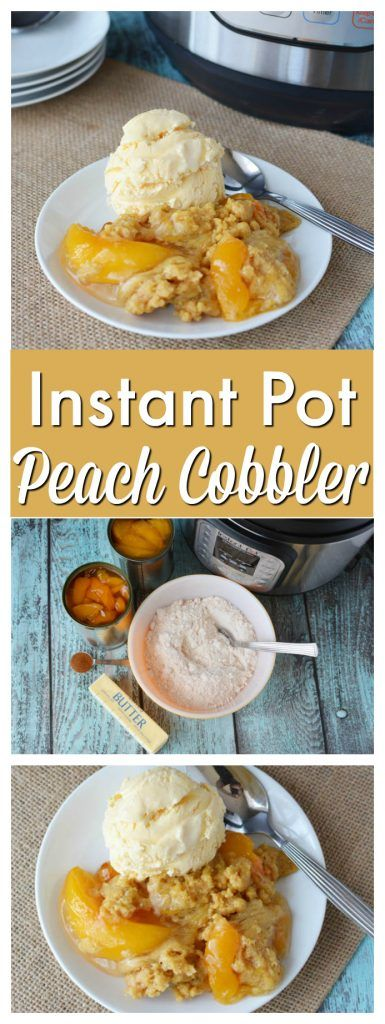 The best Instant Pot Peach Cobbler Recipe you will ever need! https://www.southernfamilyfun.com/best-instant-pot-peach-cobbler/ via @winonarogers