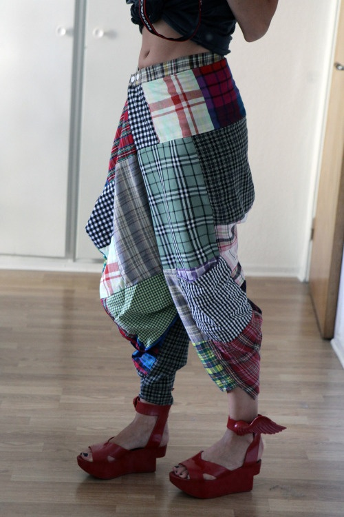 tablecloth pants.