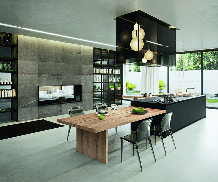 The AK04 kitchen range is for those of us with bold kitchen design ideas. The door is designed with a 5mm aluminium frame which allows the door to be clad in a range of cutting edge materials such as recycled paper by Paperstone, nanotechnology Fenix and other unusual door materials such as corian and saw-effect [...]