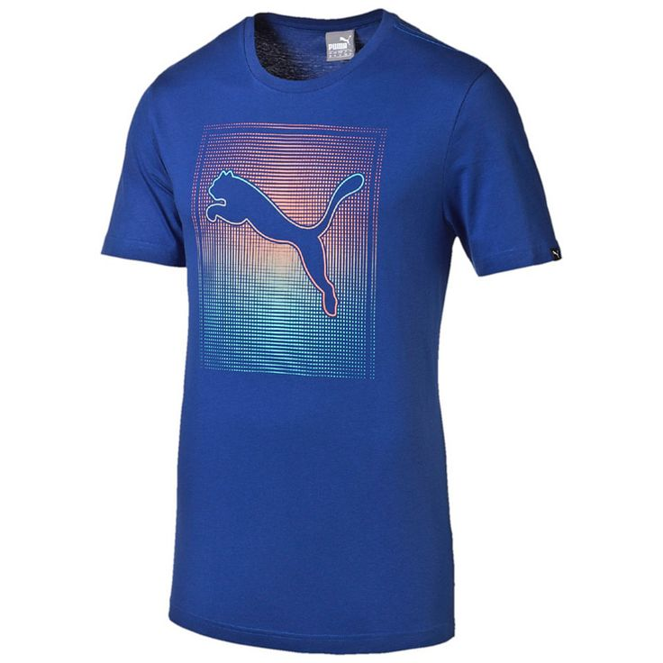 PUMA Faded Square T-Shirt für 20,00€. Klassisches Rundhals-Design., Nackenband aus gleichem Stoff: Stil und Komfort., Weicher grafischer Pigment-Druck. bei OTTO