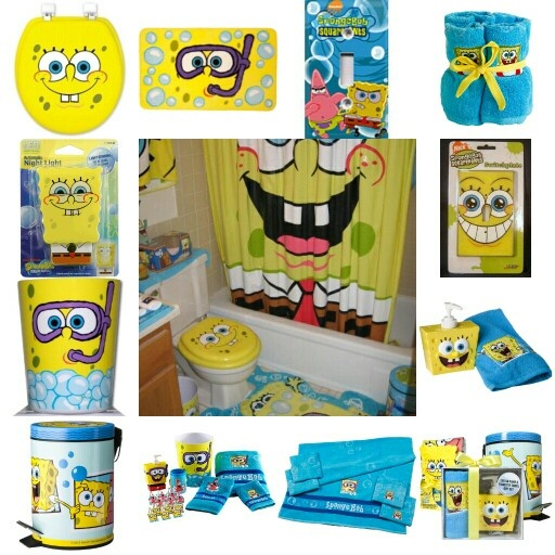 spongebob themed kids bathroom home pinterest kid