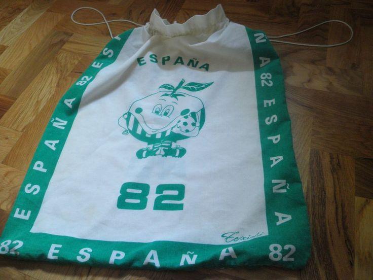 WORLD CUP Copa Mundial de Fútbol 1982 ESPANA SPAIN FOOTBALL canvas bag souvenir  | eBay