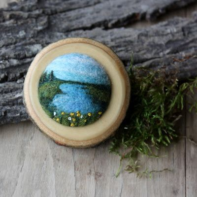 Felted Pin by Lisa Jordan