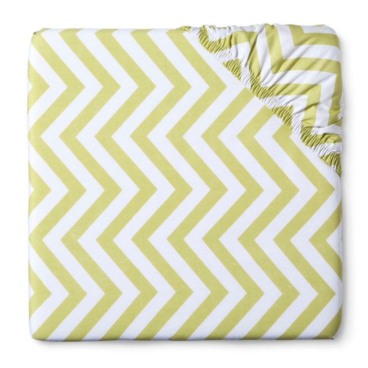 Add a cool, contemporary touch to your baby nursery with Circo's Chevron Fitted Crib Sheet. This modern crib sheet has a trendy chevron stripe pattern in your choice of nursery colors. This machine washable, cotton sheet fits all standard crib mattresses. Try this fitted sheet with the pieces in Sweet JoJo Designs' Zig Zag Baby Bedding Collection.