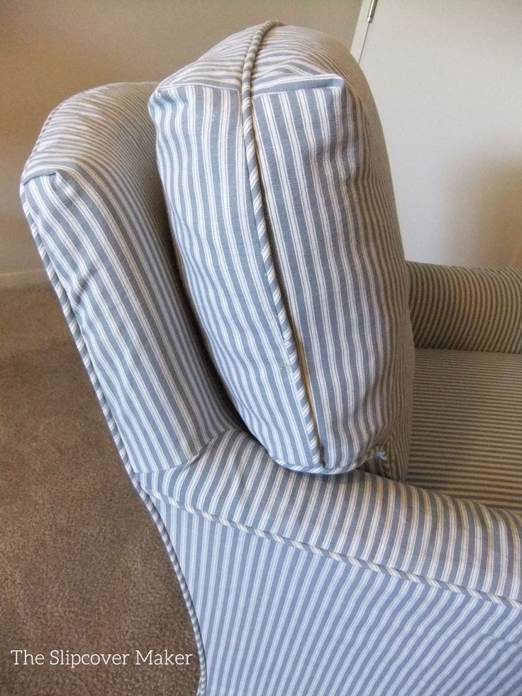 Superieur Ticking Stripe Slipcover For Old Drexel Chair