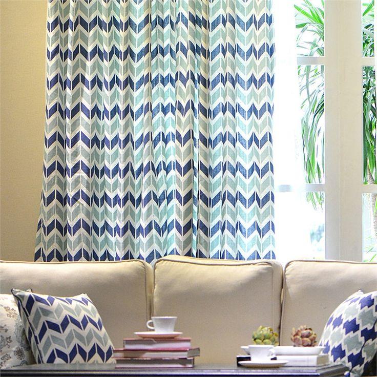 遮光カーテン オーダーカーテン 幾何柄 北欧 3級遮光カーテン(1枚) PL016