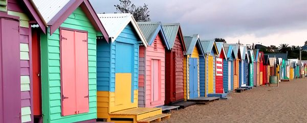 beach huts - brighton, england