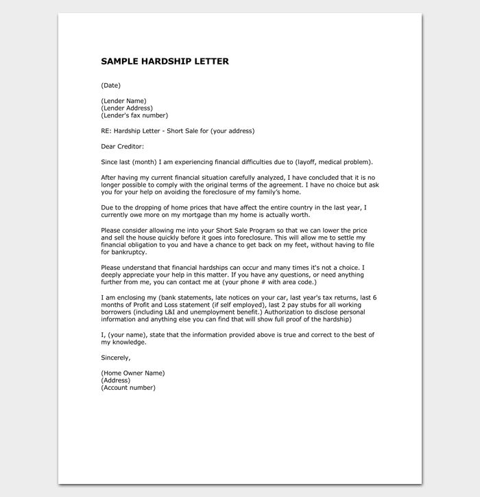 48 Best Letter Templates   Write Quick And Professional Images On   Hardship  Letter