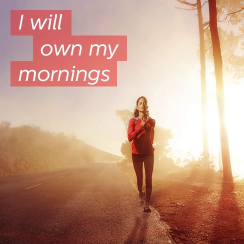 Seven steps to become a morning exerciser.