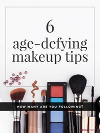Learning these tricks is easy when you're shown how to do them. Here are our 6 age-defying makeup tips for women over 50.
