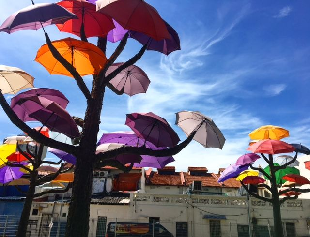 Umbrella art installation - Little India, Singapore