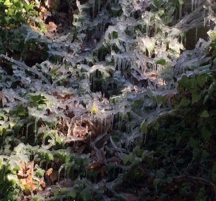 Το νερό έγινε πάγος – 0°C σήμερα το πρωί στη Ψίνθο !